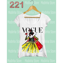 Tshirt Tee Feminina Princesas Disney Vogue Branca De Neve