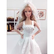 Vestido De Noiva Para Barbie ,nikki,raquelle
