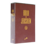Bíblia De Estudo De Jesuralem Média Original + Capa Cristal