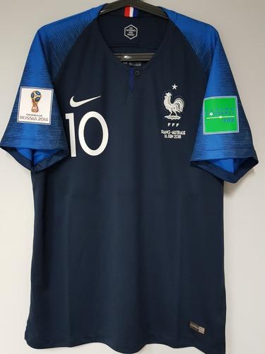 Camisa Nike França Home Mbappe 10 2018 Oficial - Final Copa - R  169 ... d19d64dacfbce