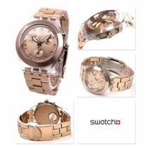 Relógio Swatch Chrono Full Blooded Caramel Svck4047ag
