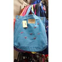 Bolsa Hollister Feminina Mala Sacola Azul Claro +cores Orig