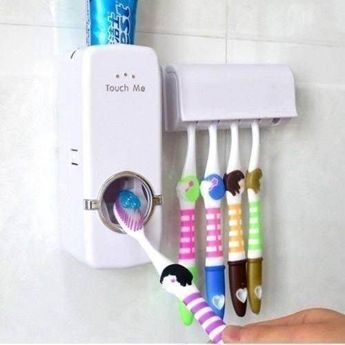 Dispenser Aplicador Creme Dental Pasta Dente Suporte Escovas