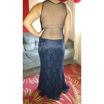 Vestido Azul Marinho ,usado Apenas Uma Vez .