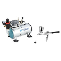 Kit Aerógrafo Dupla Ação + Compressor De Ar C/ Filtro