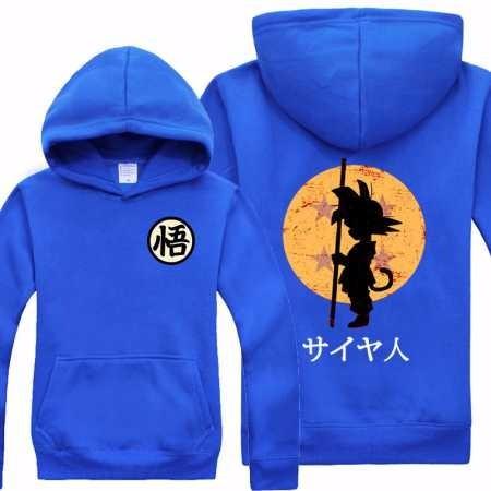 Blusa Moletom Frio Goku Criança Dragon Ball Capsule Desenho 223287e460e81