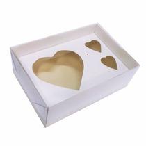50 Caixas P/ Coração De Colher 200g + 2 Bombons Dia Das Mães