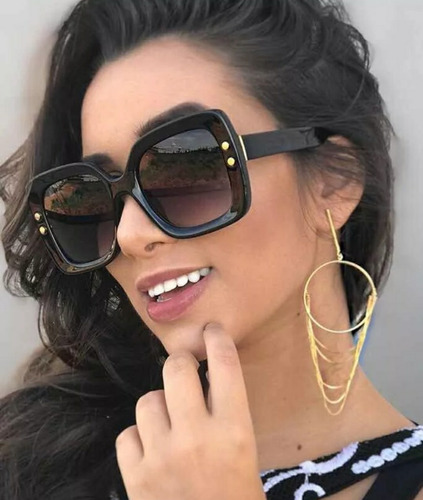 7471cb3fb Óculos Dia Noite Sem Grau Feminino Dourado Fashion Redondo