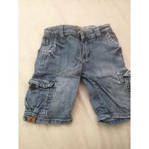 Bermuda Jeans Toffee Grife Infantil 6 A 9 Meses