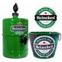 Kit Heineken Chopeira Alumínio 4,2 Litros + Balde Extra Luxo