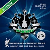 Encordoamento Guitarra Monterey Emg10 Leve 010 Mizinha Extra
