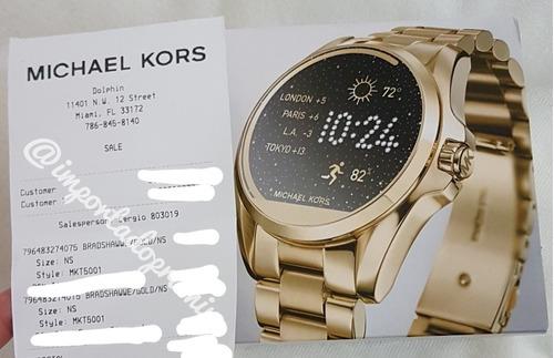 2a342ac0fff Relógio Michael Kors Smartwatch 5001 Dourado C Nota Mk à venda em ...