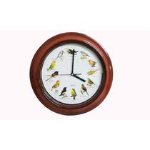 Relógio De Parede Cozinha,sala C/som De Pássaros Cantando