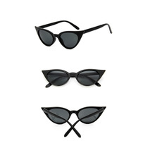 cdc2a6d6d Oculos Sol Preto Uv400 Gatinha Retro Cat Eye Design Pequeno
