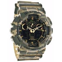 Relógio Casio G-shock Ga-100cm-5adr Camuflado Wr200 5 Alarme