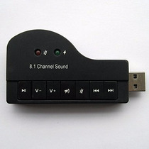 Placa De Som Usb 8.1 Canais 3d Adaptador Audio