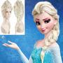 Peruca Da Elsa Frozen Infantil + Brinde.