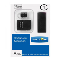 Pen Drive Multilaser 8 Gb  3 Em 1 Mc079
