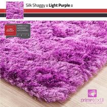 Tapete Silk Shaggy Fio De Seda : Light Purple, : 1,00x1,50m