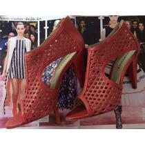 Linda Sandal Boot Couro Coral - Conforto!! #melissa# Schutz