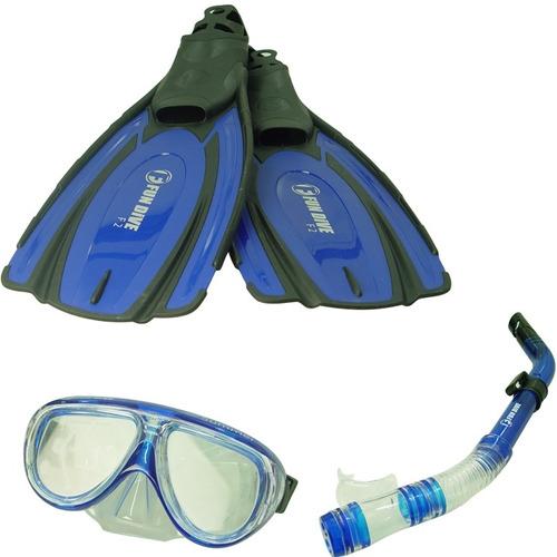 Kit De Mergulho F2 Azul - Fun Dive - 36 / 37