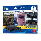 Console Playstation 4 Slim 1tb Hits Bundle 5 + 3 Jogos - Ps4