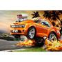 Painel Decorativo Festa Infantil Carros Hot Wheels (mod3)