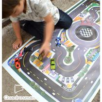 Tapete Ilustrativo Pista Para Brincar De Carrinho Kids P