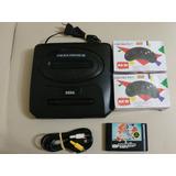 Mega Drive 3 + 2 Controles + Cabo A\v + Sonic 2 Original!!