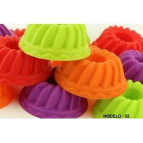 Kit C/12 Formas Silicone Mini Bolos Cupcake Pudim E Gelatina