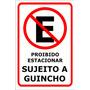 Placa Proibido Estacionar 2mm Tamanho 30x20cm Guincho
