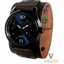 Relógio Bracelete De Couro Masculino