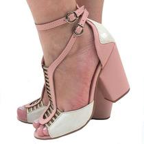 1afc8ff7b8 Busca Sandálias gladiadora salto médio rosa com os melhores preços ...