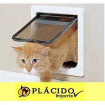 Porta Sistema 4 Em 1 Controla Fluxo Gato/cachorro Branca