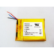 Bateria Para Mp3 Mp4 Mp5 Gps 290 Mah 3,4cm X 2,8cm Nova
