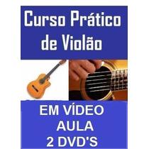 Aulas De Violão + Canto Em 4 Dvds