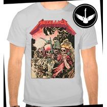 Camiseta Metallica Baby Look Banda Rock Camisa Blusa Regata