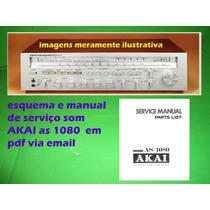 Manual De Serviço Receiver Akai As 1080 As1080 Em Pdf