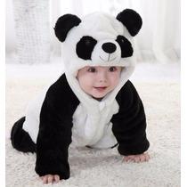 Macacão/fantasia Urso Panda Parmalat - Pronta Entrega