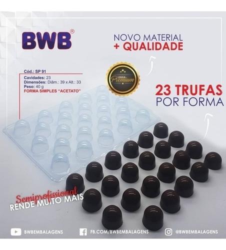 Kit 5 Formas Semi-profissional Trufa Média Sp 91 40g Bwb