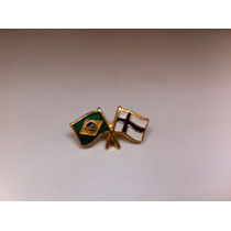 Pins Da Bandeira Do Brasil X Finlândia