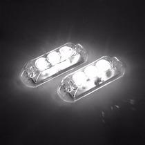 Kit Strobo Automotivo Ajk Lps Vittro Led 2 Faróis Luz Branco