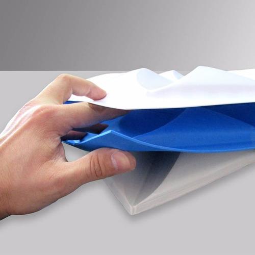 Forma Placa Gesso 3d - Ref.08 - 44x29,5 Cm Plástico + Eva