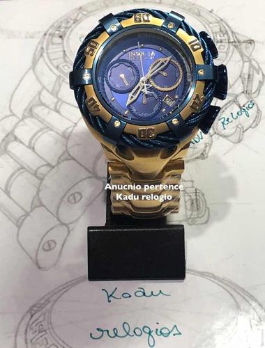 cbc9866851b Relógio Invicta Reserve Bolt 21361 Dourado Azul Kadu - R  550 en ...