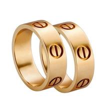 Par De Alianças Modelo Cartier Em Ouro 18k - Cwb Joias