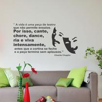 Adesivos Decorativo Frases De Charlie Chaplin Charles