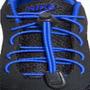 Par De Cadarço Corda Elástica Azul P/ Tênis Sapato Esportes