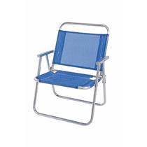 Cadeira De Praia Oversize Alumínio Azul Mor - Suporta 140 Kg