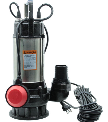 Bomba Submersa Limpa Fossa Aço Inox 1hp 750w Worker