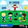 5 Kits Digitais Futebol Copa Seleção Cute Scrapbook Imagens